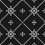 Telhe o teste padrão decorativo preto e branco do vetor das telhas de assoalho ou o fundo sem emenda Fotografia de Stock Royalty Free