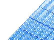 Telhe os painéis solares em uma ilustração branca do fundo 3D Imagens de Stock Royalty Free
