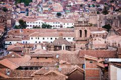 Telhe partes superiores do cusco agradável da cidade em peru Imagem de Stock Royalty Free