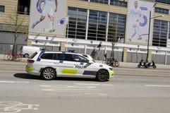 TELIA PARKEN FÖR STADION FÖR SPORT FÖR DANMARK ` S NAIONAL Royaltyfria Bilder
