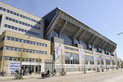 TELIA PARKEN FÖR STADION FÖR SPORT FÖR DANMARK ` S NAIONAL Arkivfoton