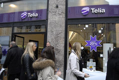 TELIA AND TELENOR HAS DECIDED TO MERGE ONE Royalty Free Stock Photography