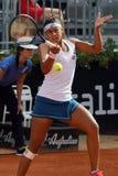 Teliana Pereira (BRA). ROME, ITALY - MAY 10, 2016: Teliana Pereira (BRA) during her 1st round match against Carla Suarez Navarro (ESP) at the Internazionali BNL Stock Photography