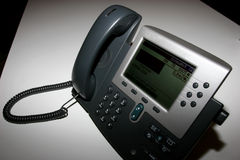 Tell Comm. A black tellephone for the office Royalty Free Stock Photos