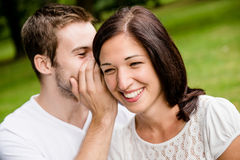 Tell me secret - whisper Stock Images