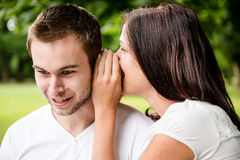 Tell me secret - whisper Royalty Free Stock Image