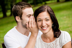 Tell me secret - whisper Royalty Free Stock Photography