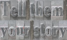 Tell them story block Stock Photography