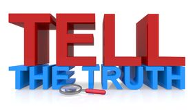 Tell the truth on white