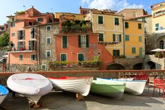 Tellaro, old small village in Italy Royalty Free Stock Image