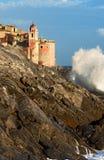 Tellaro by - Liguria Italien Royaltyfri Bild