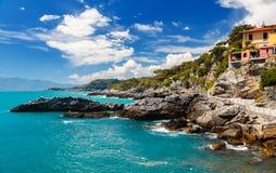 Tellaro Liguria, Italien Fotografering för Bildbyråer