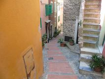 Ancient alleys in the village Royalty Free Stock Photography