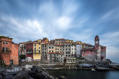 Tellaro. A little village on the Gulf of Poets in Italy stock photos