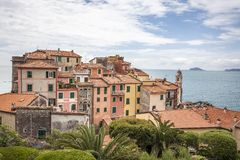 Tellaro, typical houses on the ligurian coast, Liguria, Italy Royalty Free Stock Photos