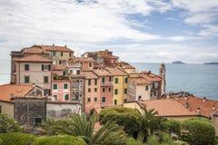 Tellaro, typical houses on the ligurian coast, Liguria, Italy. Europe Royalty Free Stock Photos