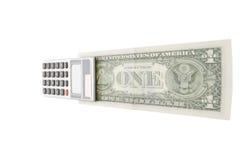 Tellend Apparaat en Geld Royalty-vrije Stock Foto's