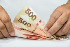 Tellend geld royalty-vrije stock foto's