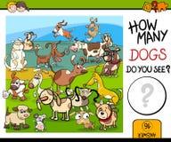 Tellend spel met bevlekte honden vector illustratie