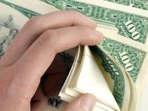 Tellende aandeelcertificaten - rijkdom Royalty-vrije Stock Foto
