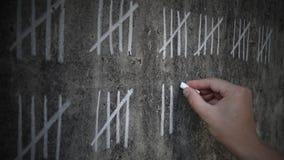 Tellende dagen in gevangenis stock videobeelden