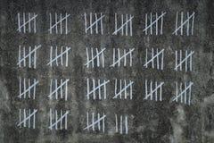 Tellende dagen in gevangenis royalty-vrije stock afbeeldingen
