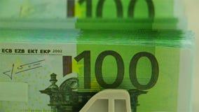 Tellende EURO Close-up stock videobeelden