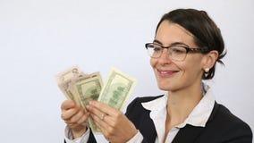Tellende inkomens en winsten stock footage