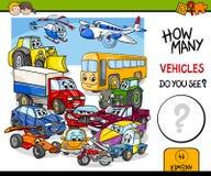 Tellende voertuigen onderwijsactiviteit stock illustratie