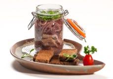 Teller der internationalen Küche in einem Restaurant Lizenzfreies Stockbild