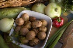 Teller der Kartoffeln Stockbild