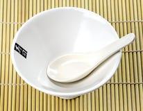 Teller für Misosuppe Stockfotografie