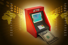 Teller machine Stock Photo
