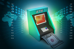Teller machine Stock Photos