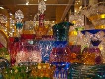 Teller met Boheems glas Stock Foto's