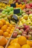 Teller met fruit stock afbeelding