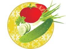 Teller mit Gemüse Stockbilder