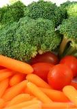 Tellersegment des Gemüses Stockfoto