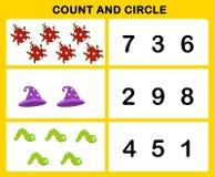 Telling en cirkel stock illustratie