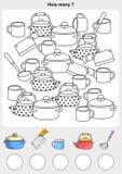 Telling en het schilderen kleur de voorwerpen stock illustratie