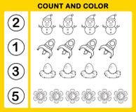 telling en kleur vector illustratie