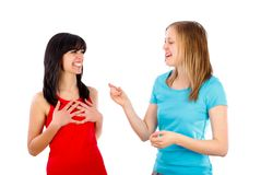 Telling a funny story Stock Photography