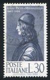 Telling Giovanni Pico della Mirandola royalty-vrije stock fotografie