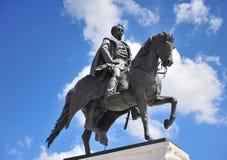 Telling Gyula Andrassy Statue, Boedapest stock foto