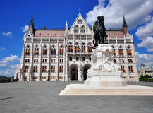 Telling Gyula Andrassy Statue, Boedapest, Hongarije stock fotografie
