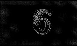 Telling onderaan Nummer het Trekken 10 tot 0 2D Animatie vector illustratie