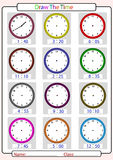 Telling the time, draw the time Stock Image