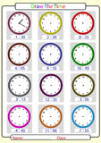 Telling the time, draw the time Stock Images