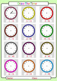 Telling the time, what is the time, stock illustration