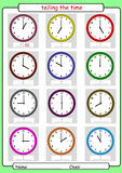 Telling the time, what is the time, Royalty Free Stock Images
